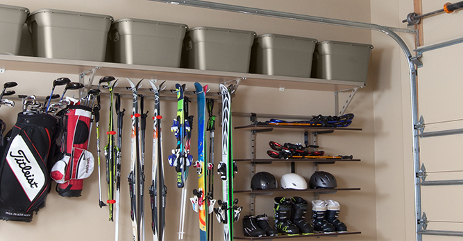 Garage Shelving Drop Down Menu Greensboro